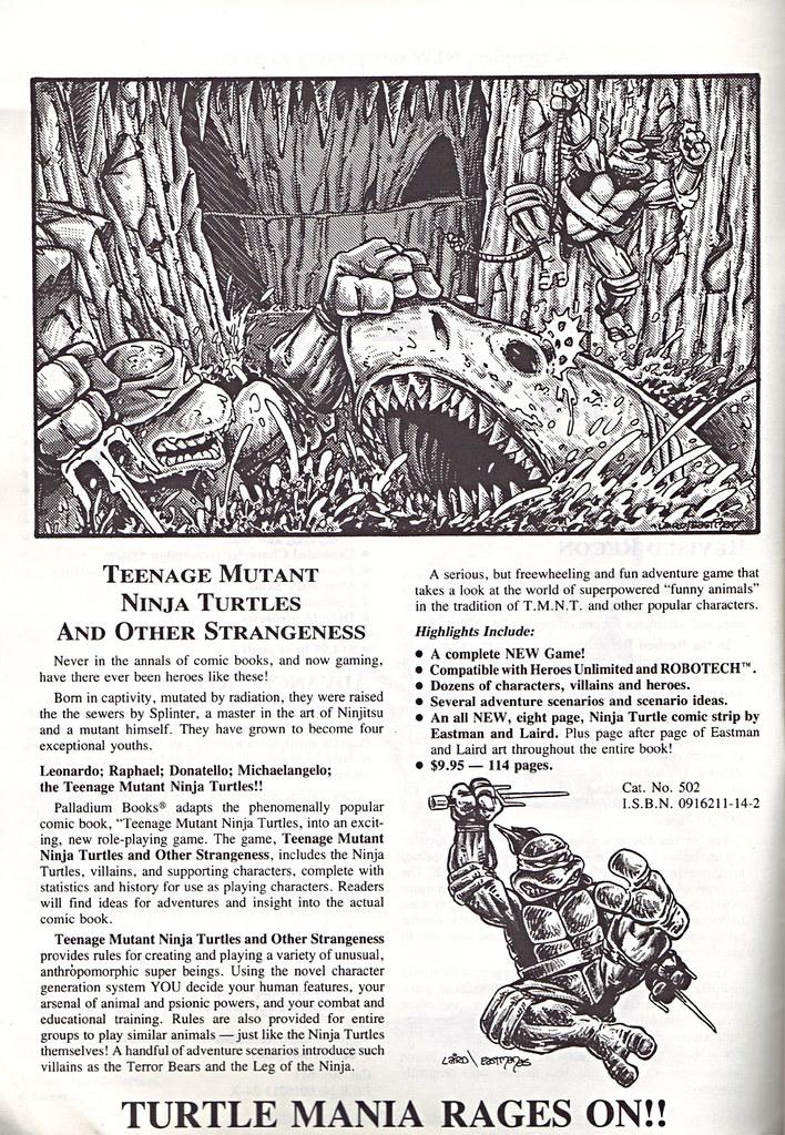 'THE CATALOG OF PALLADIUM BOOKS 1988-89 Catalog' vi (( 1988 )) by tOkKa
