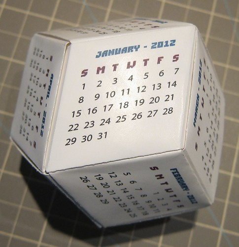 Rhombic Dodecahedron Calendar   by ChrisL_AK