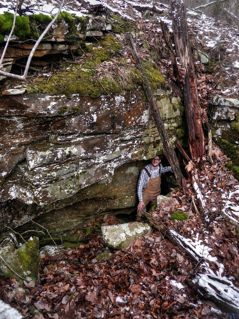 Shoulder Day Cave entrance, Brandon Page, White Co, TN