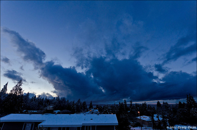 Snowpocalypse clouds approaching