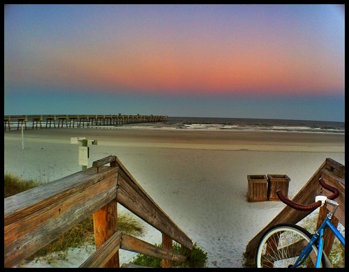 ocean camera wood city light sea sky brown sun sunlight love beach me apple nature water weather bike clouds photography pier town amazing sand day view time florida you awesome horizon off lord thank glorious photograph boardwalk jacksonville fixie fixedgear fl rays another behind jax cloudporn sunsetting 2012 bouncing iphone iphone4 mosesedge
