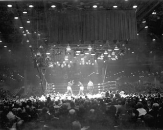 Championship fight between Cassius Clay and Sonny Liston: Miami Beach, Florida