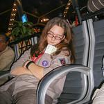 Little Sis Sleeping in Abu Dhabi Airport