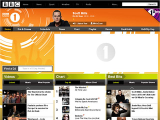 Radio 1 website, c.2010 | by radio1interactive