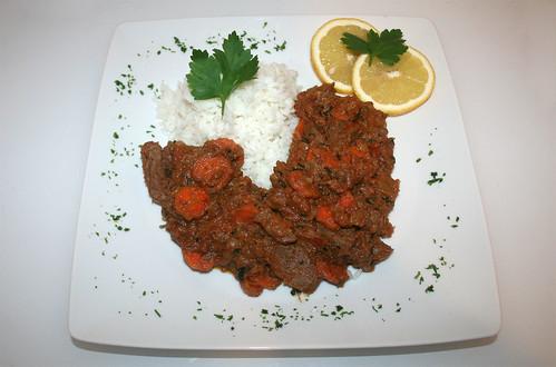 38 - Afrikanischer Erdnusstopf mit Lamm / African Peanut stew with lamb - Serviert | by JaBB