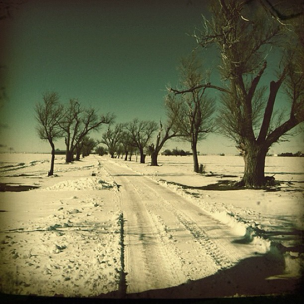 Driveway to Clutter house in Holcomb,KS - murder site from ... on