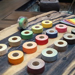 手織り麻のハンドルリボン