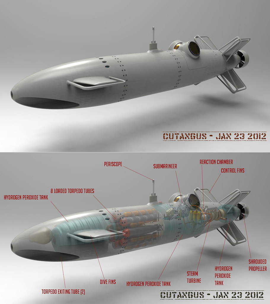UNTERSEEJAEGER-A01   Underwater fighter design  This is a cr