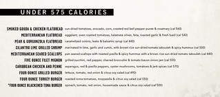 Under 575 Calorie Menu | by Yard House
