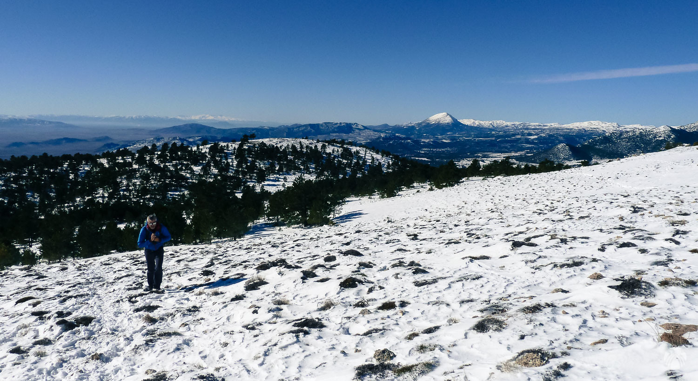 Llegando a la zona de cumbres con excepcionales vistas