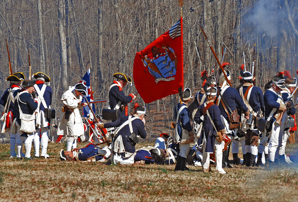 USA Revolutionary war reenactment, battle of Guilford Cour