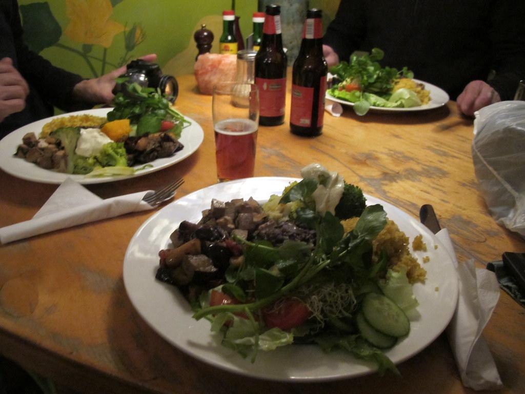 Vegan plate at Bolhoed health food restaurant