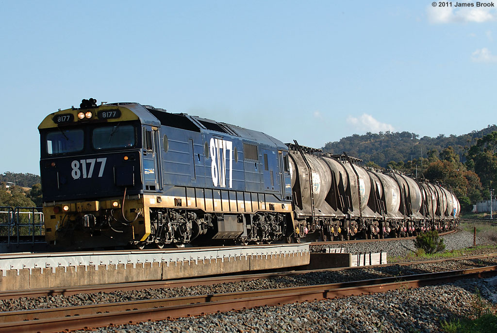 8177 with 6MV9 at Kilmore East by James Brook
