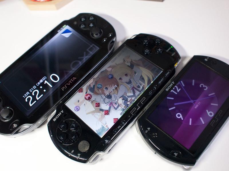 PlayStation VITAとPSP