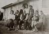 Famiglia Battistel Angelo. Foto del 1951 in Via Braida II Stretti