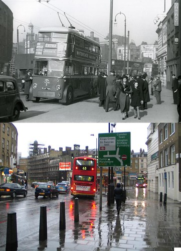 233-King's Cross, Gray's Inn Road, 1938 and 2012 | by Warsaw1948