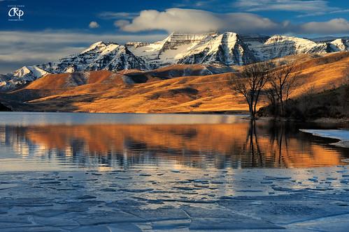 show winter mountain cold reflection ice water utah glacier timpanogos h20