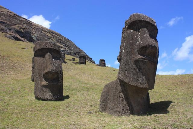 Easter Island, Rano Raraku, moais