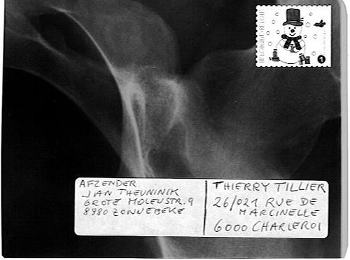 X-ray Mail Art by Jan Theuninck