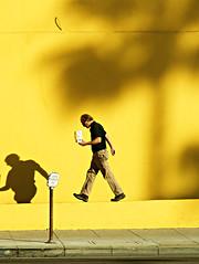 Man Walking on Wall