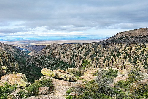 Views from Inspiration Point in Chiricahua National Monument, Arizona