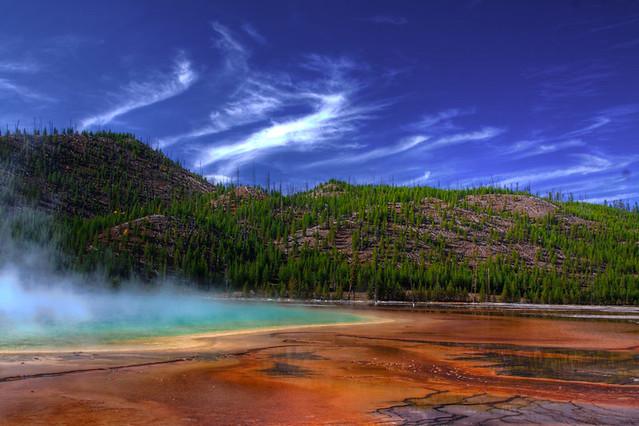 Hot spring at Yellowstone National Park