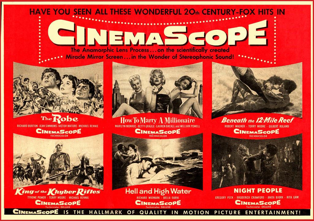 Magazine AD: CinemaScope (1953)   An unusual collective movi…   Flickr