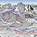 Mapa Val Gardena (pohled od Secedy)