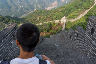 stairs down on the Great Wall | by fvfavo