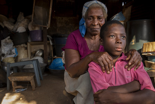 Ester Awo Bartey and her grandson, Kofi Abbey talk about LEAP (Livelihood Empowerment Against Poverty)   by World Bank Photo Collection