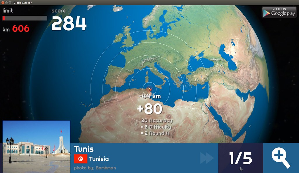 Globe Master 3D - Tunis