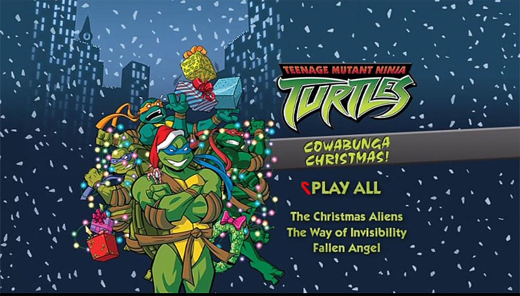 "TEENAGE MUTANT NINJA TURTLES :: COWABUNGA CHRISTMAS!"" // DVD menu screen (( 2015 )) by tOkKa"