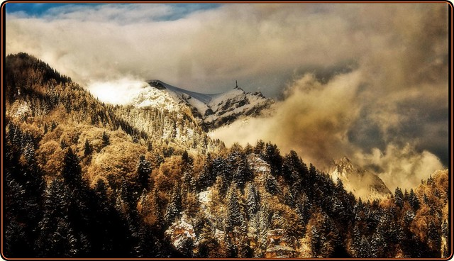 Winter in the Bucegi mountains: A view to the Caraiman peak  - EXPLORED #437 Thanks!