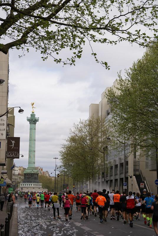 Running Towards the Bastille 2014 Paris marathon