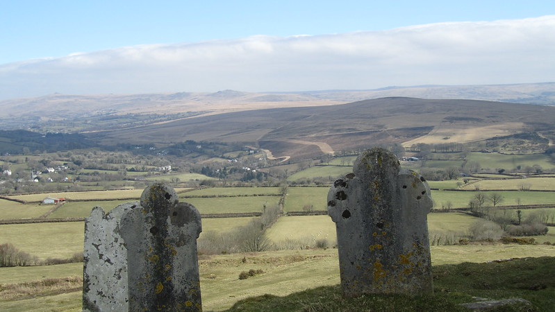Brent Tor. View of the moors.