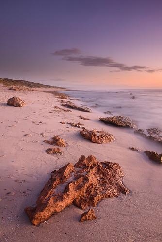 ocean sunset rocks waves au australia wa westernaustralia cpl kalbarri gnd09