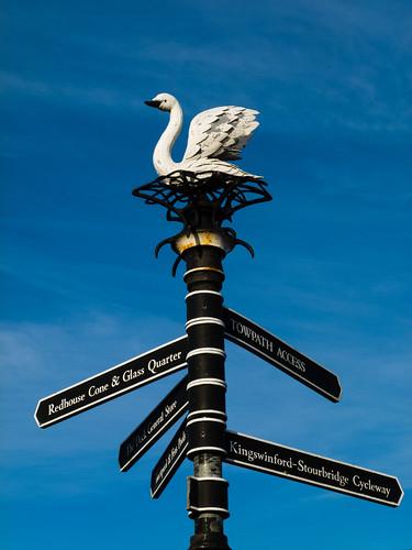 Swan sculpture, Stourbridge Canal