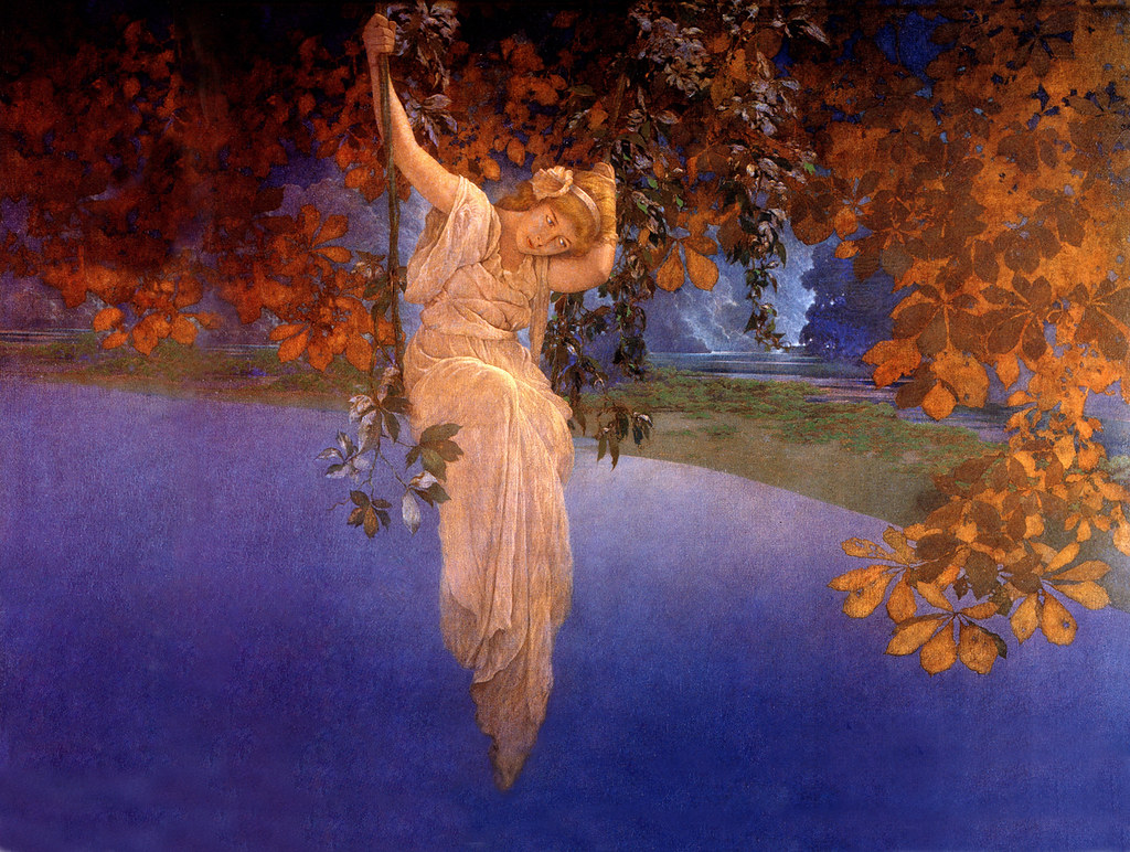 Simply excellent maxfield parrish swinging girl and