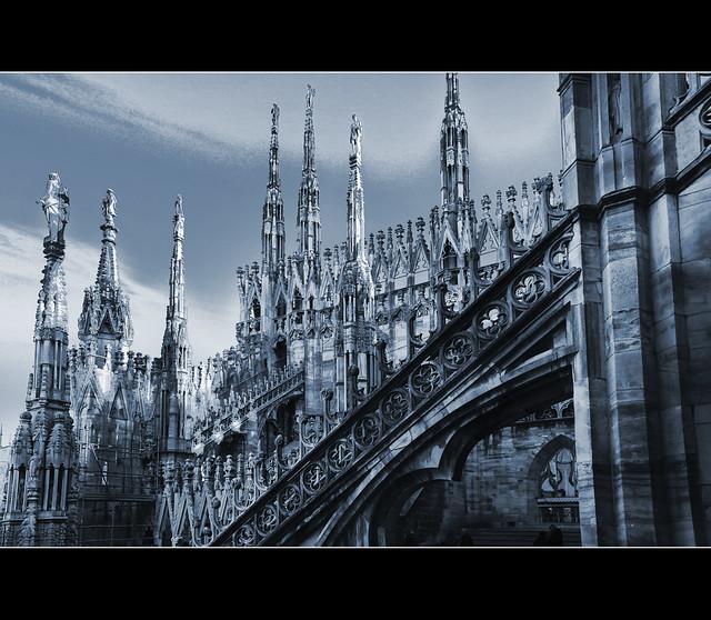 Milano: sul tetto del Duomo