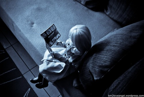 So that is what she is reading | by BM2LoveAngel