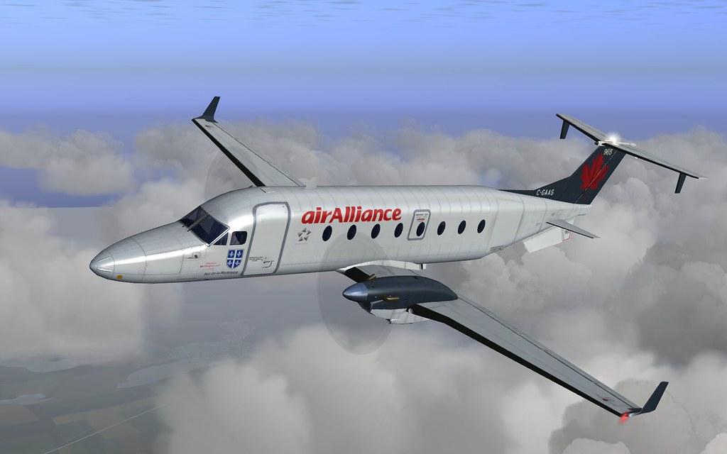 Air Alliance b1900d - flightgear   My air alliance livery fo