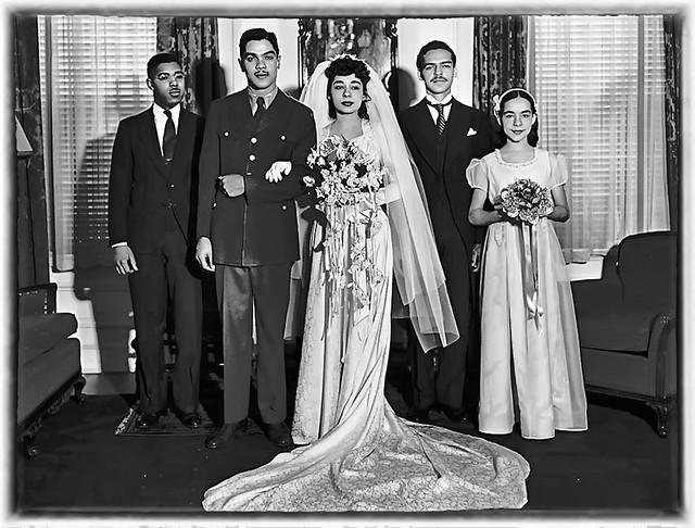 The Wedding of Carolyn Johnson in 1950