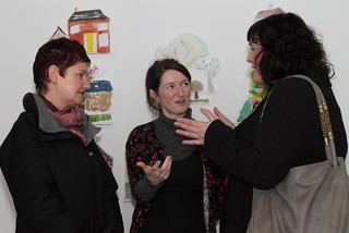 L-R Orla Moloney (Head of Arts Participation, Arts Council of Ireland), Justine Foster (West Cork Arts Centre, Dialogue Steering Group Chair) , Ann O'Connor (Arts and Health Advisor, Arts Council of Ireland) | by Dialogue Arts + Health