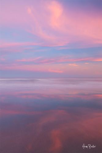 ocean pink blue sunset reflection canon long exposure atlantic cocobeach fl 24105l adambaker 5dii