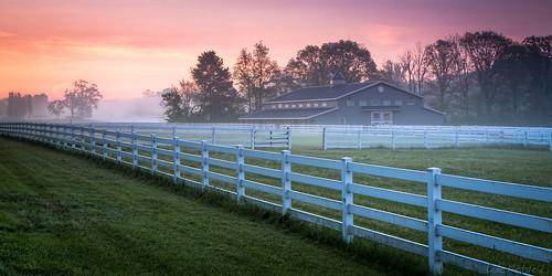 morning ohio barn sunrise fence landscape dawn farm scenic peaceful panoramic