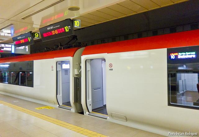 Información de dónde para cada coche del Narita Express