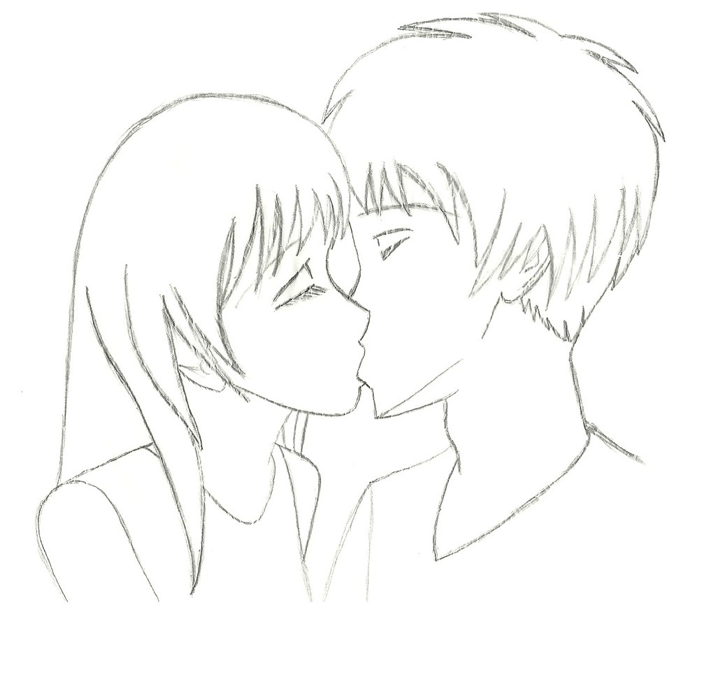 How to draw people kissing tutorial cópia de um tutorial d