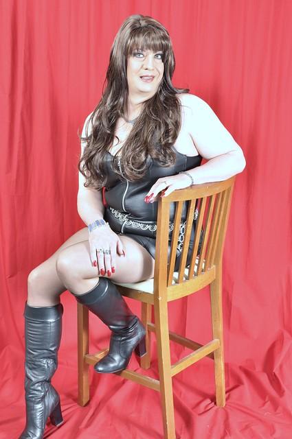 Leather Mini Dress, and Aldo Boots