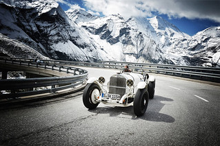Mercedes-Benz 1928 SSK at Grossglockner