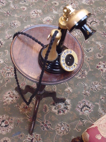 The Sherlock Holmes Museum - 221b Baker Street, London - inside the shop - old telephone | by ell brown